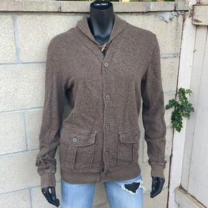 Chor clothing co terry button up sweatshirt